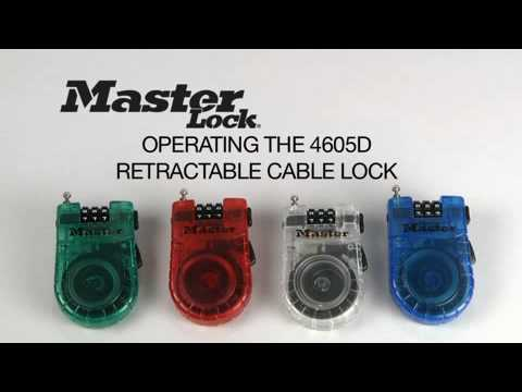 Screen capture of Operating the Master Lock 4605D Retractable Cable Lock
