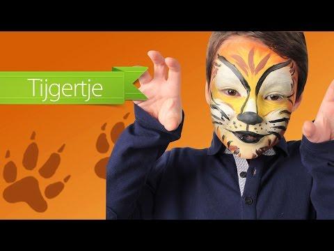 Tijger make-up voor Carnaval