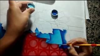 COMO PINTAR  BARRADO FALSO  - Iniciante Na  Pintura