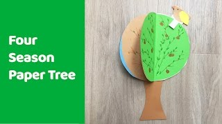 Four Season Tree Craft, Fun And Educational Craft For Kids.