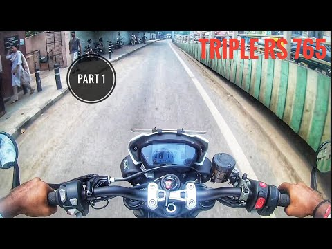 Superbike Street triple RS /765 sports mode in traffic/ part-1