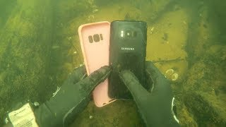Found Galaxy S8 Underwater in River While Scuba Diving! (Vlogging Underwater)