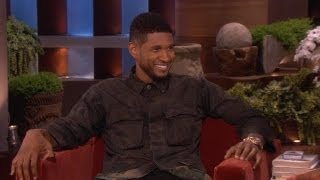 Эллен Дедженерес, Usher on Bieber: 'He's Young'