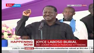 Raila highlights challenges women leaders face in Joyce Laboso's final send-off