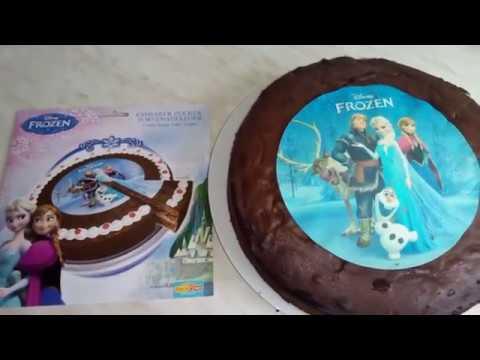 Eiskönigin Frozen Deko Zucker Auflage für Torten und Kuchen