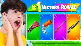 Extreme RAINBOW Gun Challenge with My Little Brother! (100k VBucks)