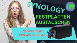 Synology Speicherplatz ausbauen - Der Austausch der alten 4 TB Festplatten gegen 8 TB Festplatten