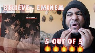Eminem - Believe (Official Audio) REACTION!! THIS IS FIRE EMOJI'S!!