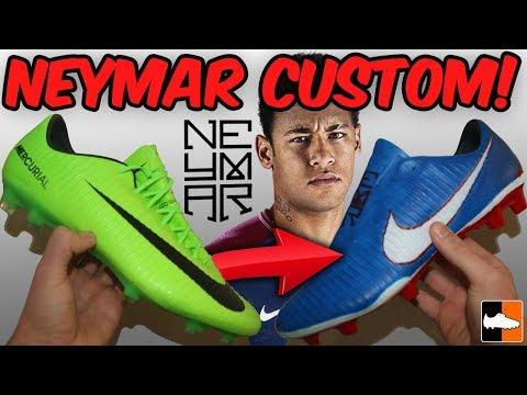 How To Make PSG Neymar Vapor! Custom Nike Boots