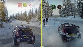 WRC 7 vs DiRT 4 PS4 Pro Graphics Comparison