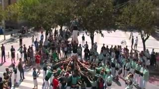 preview picture of video 'Actuació a La Llagosta, Pilar de 5 Carregat - Castellers de Caldes, Escaldats'