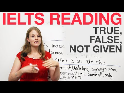IELTS Reading strategies: True, False, Not Given