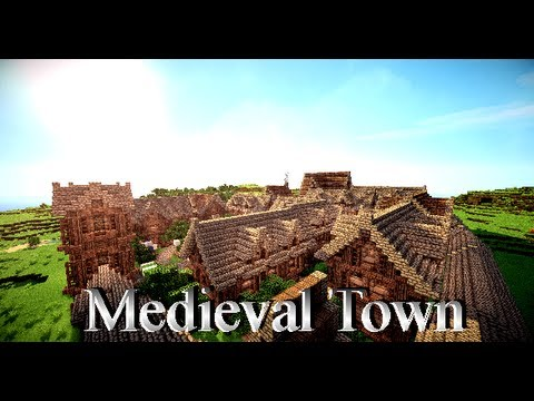 Minecraft Medieval City Download Medieval Town + Downlo...
