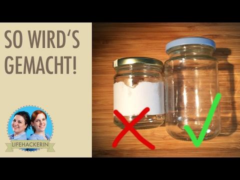 Etiketten von Gläsern, etc. entfernen | Aufkleber restlos beseitigen