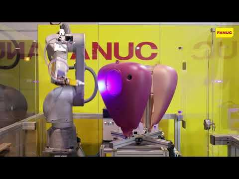 Robotically Painting Motorcycle Fuel Tanks with the New FANUC P-40iA Paint Robot