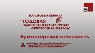 Годовая бухгалтерская отчетность 2013