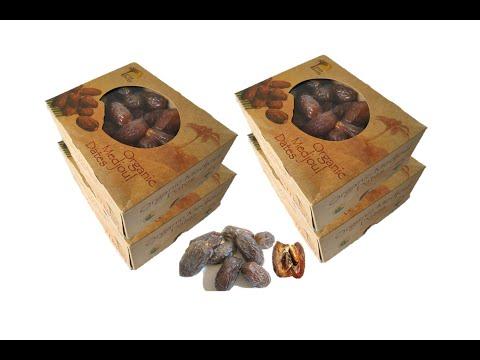 Unboxing 1 kg box Organic Medjool Dates buy-bio.eu