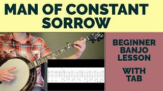 Man of Constant Sorrow Beginner Banjo Lesson