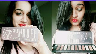 w7 Eyeshadow Palette Colour Me Buff - Review & Swatches   Urban Decay Palette Dupe w7