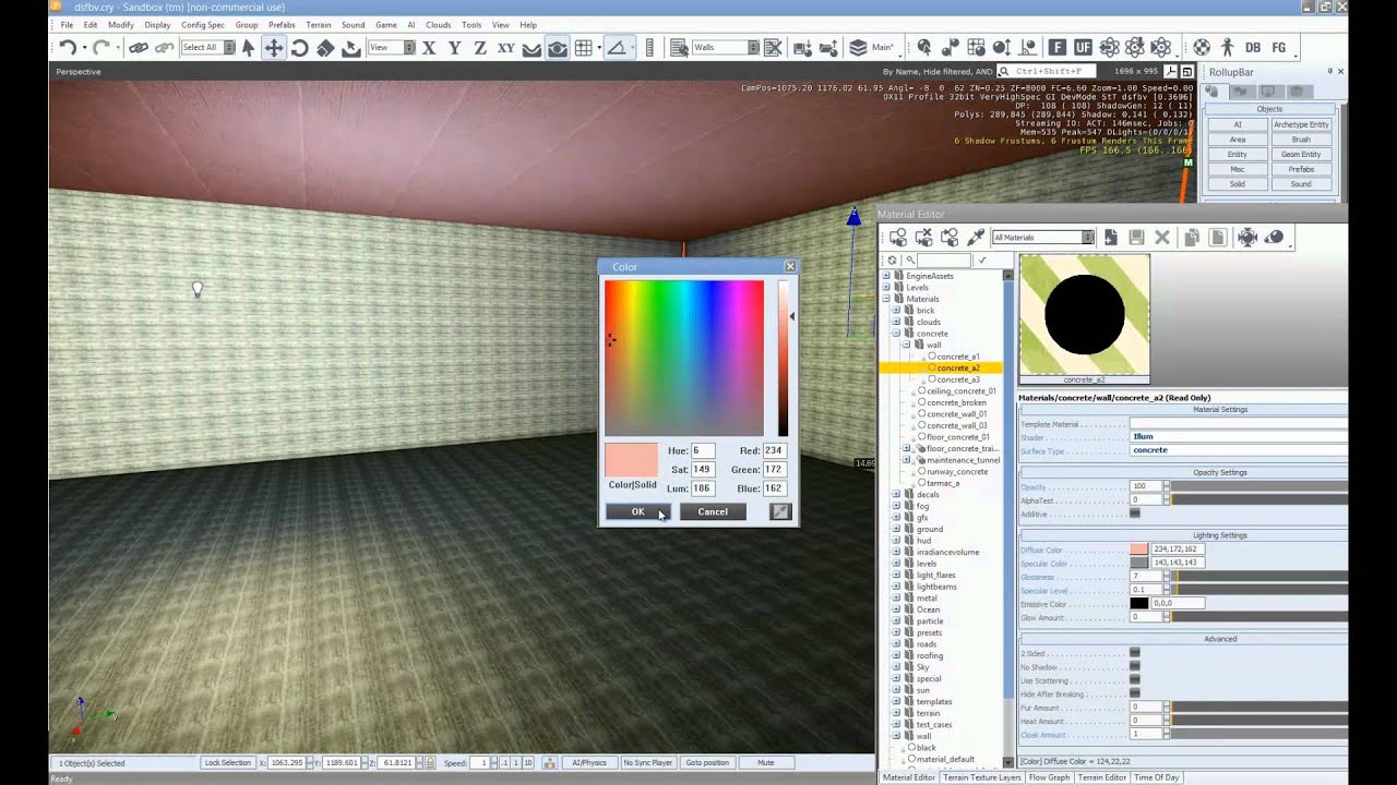 Cryengine 3 Basics: Setting up an Indoor Scene