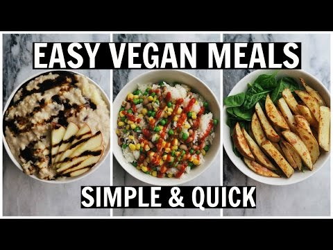 Video MY GO-TO LAZY VEGAN MEALS || Healthy, Easy, Fast