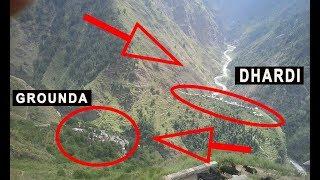 Aerial View of Grounda & Dhardi Village,Chamba Himachal Pradesh
