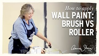 How To Apply Wall Paint With Annie Sloan: Brush Vs Roller