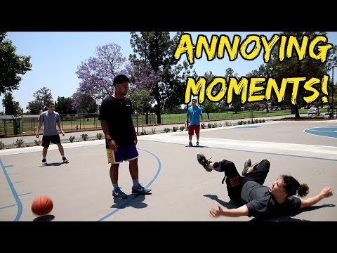 Annoying Moments in Pickup Basketball! (видео)
