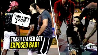 Trash Talker Wouldn't Stop Talking S*** & Got EXPOSED By White Iverson! Ballislife West Coast 5v5!