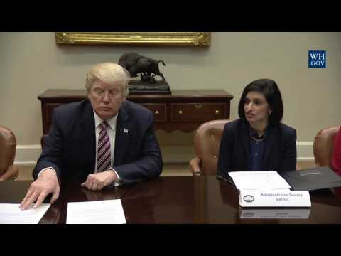 President Trump Speaks at Women in Healthcare Panel