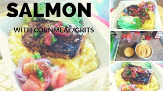 How To : Haitian Mayi Moulin Ak Saumon/ Grits With Salmon