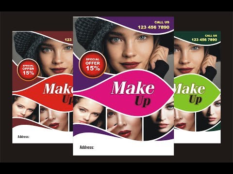 FANTASTIC BEAUTY SALON FLYER DESIGN USING CORELDRAW Mp3