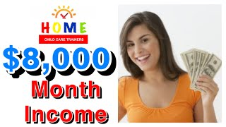 $8,000 A MONTH INCOME || HOME CHILD CARE DAYCARE