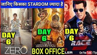 Zero vs Race 3 vs Thugs of Hindostan   Zero Box Office Collection Day 6,Shahrukh,Salman,Aamir,Zero