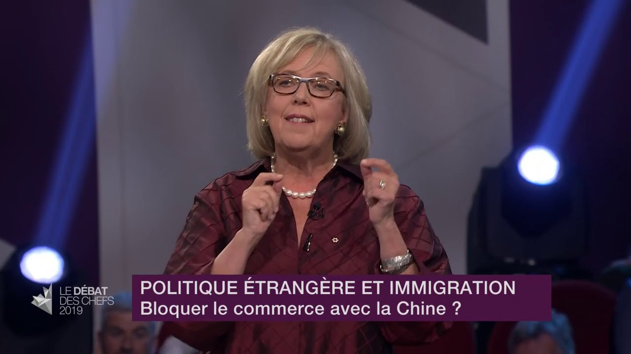 Elizabeth May répond à la question sur les relations commerciales et diplomatiques avec la Chine