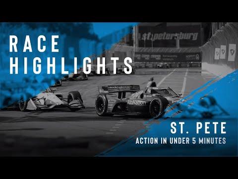 佐藤琢磨は6位!インディーカー第2戦セント・ピーターズバーグ 決勝レースのハイライト動画