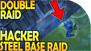 HACKER STEEL BASE RAIDING (DOUBLE Raid) - Last Day On Earth Survival Update 1.8.7