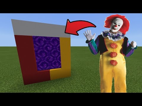 How To Make a Portal to the Killer Clown Dimension in MCPE (Minecraft PE)