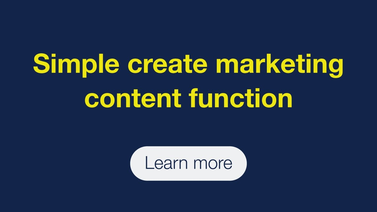 Simple create marketing-content function