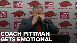 Sam Pittman Gets Emotional As New Razorback Head Coach