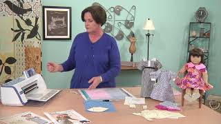 Lynn Lunoe  Shows The Easy Way To Cut Out Doll Clothes On It's Sew Easy (803-3)