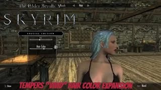 """Skyrim SE Xbox One Mods Tempers """"Vivid"""" Hair Color Expansion"""