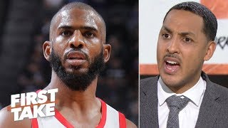 Chris Paul isn't elite anymore - Ryan Hollins walks off set | First Take