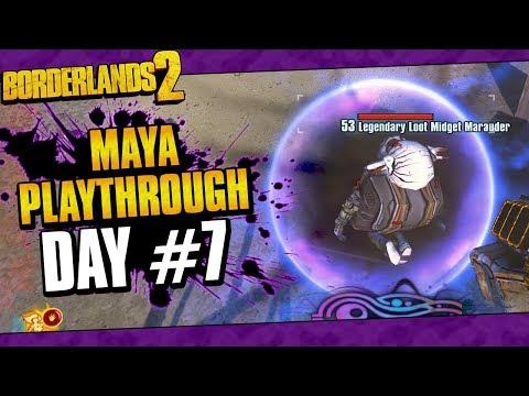 Borderlands 2 | Maya Reborn Playthrough Funny Moments And Drops | Day #7