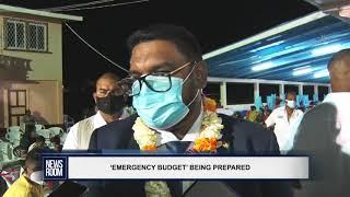 'EMERGENCY BUDGET' BEING PREPARED