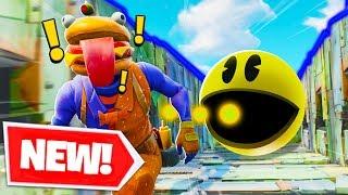 *NEW* PAC MAN RUN Custom Gamemode In Fortnite Battle Royale! | Fortnite W Lazarbeam, Muselk, & Vik