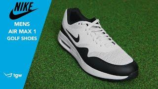 NIKE Mens Air Max 1 Golf Shoes