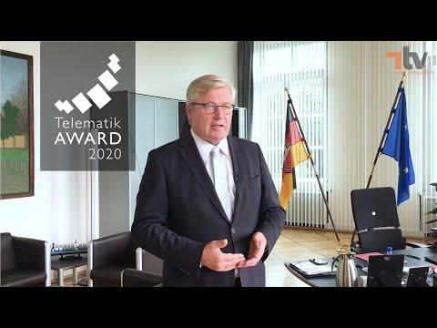 Das dreiwöchige Digital-Event anlässlich der Verleihung des Telematik Awards 2020 beginnt mit der Begrüßung durch den Schirmherrn Dr. Bernd Althusmann, Ns. Minister für Wirtschaft, Arbeit, Verkehr und Digitalisierung.