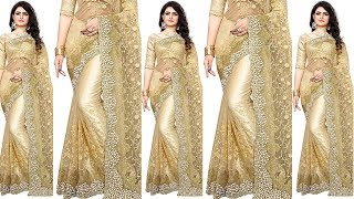 Designer Party Wear Sarees | Stylish Saree Designs | New Party Wear Embroidered Saree Blouses