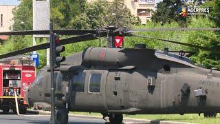Circulaţie restricţionată în zona Charles de Gaulle, după aterizarea fortata a unui elicopter american